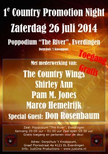 1e Country Promotion Night - Powered by JustOne Productions @ Poppodium The River | Everdingen | Utrecht | The Netherlands